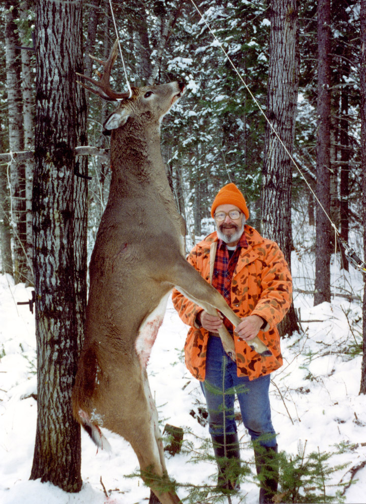 Doc with his latest trophy buck. (2010, 12-pointer)