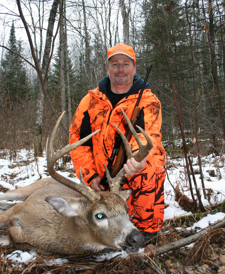 Doc's son, Ken Nordberg, with his 2012, trophy-class 8 point buck.