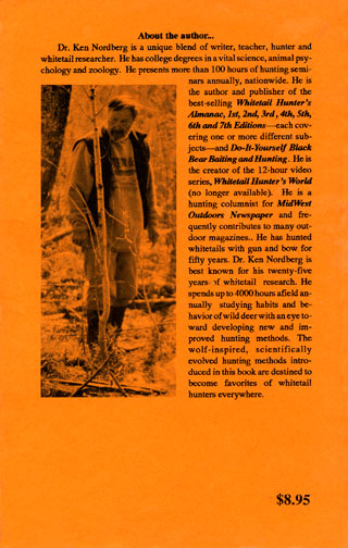Dr. Ken Nordberg's Whitetail Hunter's Almanac, 7th Edition Back Cover