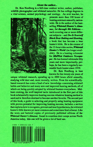 Dr. Ken Nordberg's Whitetail Hunter's Almanac, 8th Edition Back Cover