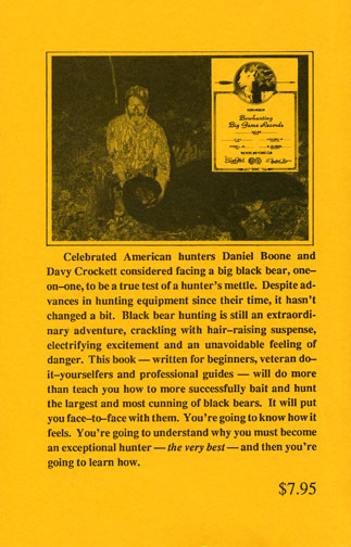 Dr Ken Nordberg's Whitetail Hunter's Almanac 9th Edition Back Cover
