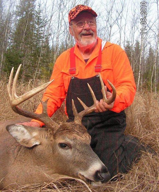 Dr. Ken Nordberg with a wolf-country 10-point buck (2010)